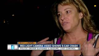 Exclusive Video: Red light camera captures crash caused by driver suffering seizure behind the wheel