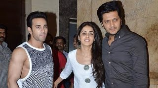 Ritesh Deshmukh, Genelia D'souza, Pulkit Samrat @ Bangistan Movie Screening