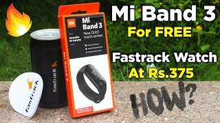 Mi Band 3 For Free | Fastrack Watch At Rs.375 | Unboxing | Review | Dekh Review (Hindi/Urdu)