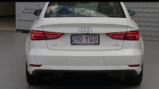 2018 Audi A3 Ibis White Automatic Sedan