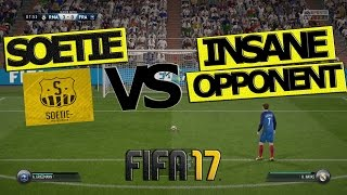 SOETIE Vs INSANE OPPONENT / Who Will Win? / How to Beat High Pressure! / FIFA 17 FULL GAMEPLAY