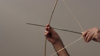 How to Make a Bow and Arrow Simply in only 2 minutes