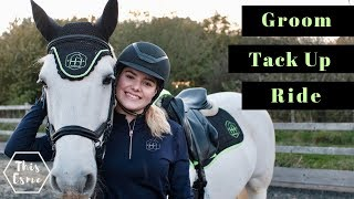 Groom, Tack up and Ride with Me and my Horse for Showjumping | Equestrian Routine | This Esme