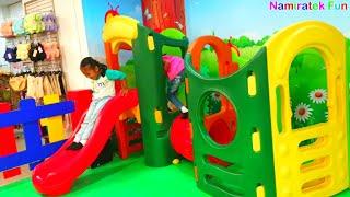 Namiratek fun Seru sekali bermain Mainan Anak Mobil Mobilan naik Odong-odong mandi bola warna warni