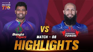 Bangla Tigers vs Karnataka Tuskers I Match 8 Day 3 I Aldar Properties Abu Dhabi T10 I Season 3