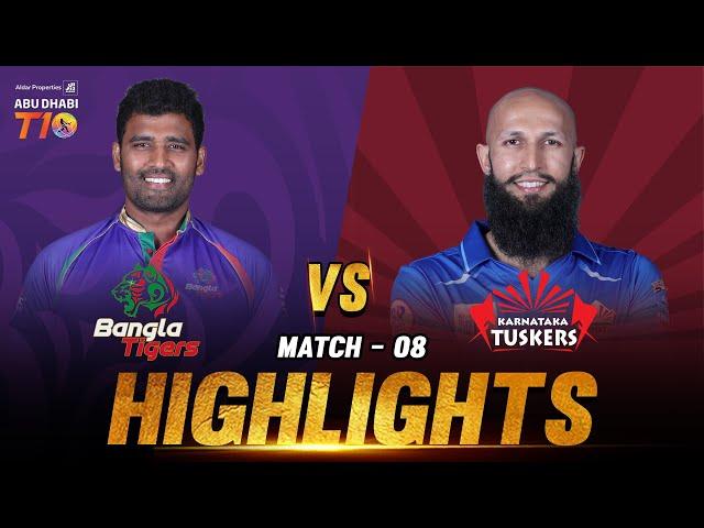 Bangla Tigers vs Karnataka Tuskers I Match 8 Day 3 I Aldar Properties Abu Dhabi T10 I Season 3