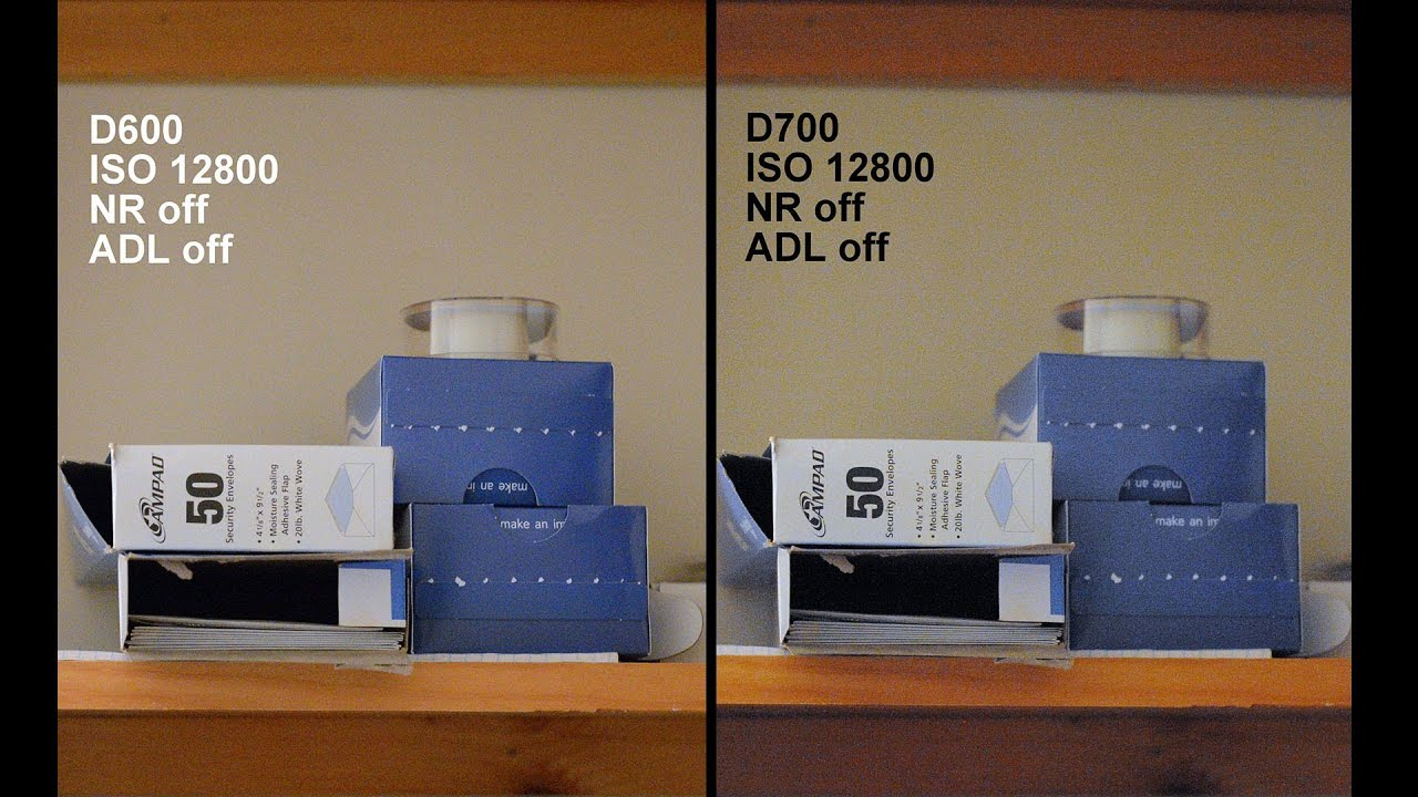 nikon d600 vs d700 iso noise dynamic range af shutter sound mode