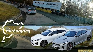Kia Stinger GT pursuits Kia Proceed GT at Nürburgring