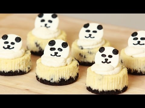 PANDA MINI OREO CHEESECAKE - NERDY NUMMIES
