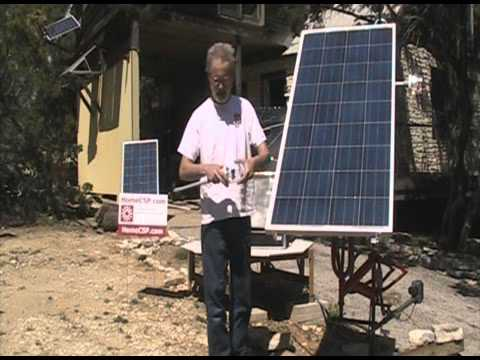 Dual Axis BMX Frame Solar Tracker with TinyTracker controllers