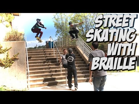 HITTING THE STREETS WITH VINNIE BANH & BRAILLE SKATEBOARDING !!! - A DAY WITH NKA