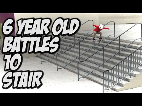 6 YEAR OLD JR GUTIERREZ V.S. 10 STAIR !!! - A DAY WITH NKA -