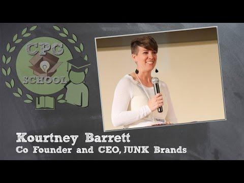 Kourtney Barrett - Co-founder & CEO, JUNK Brands - CPG School, 4/8/15