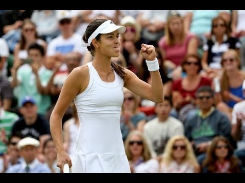 Ana Ivanovic vs Jie Zheng Wimbledon 2014 Highlights