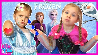 Download lagu Kin Tin Frozen 2 Movie in Real Life   Elsa and Anna Pretend Play with Kids Diana Show