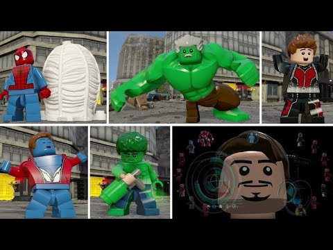 LEGO Marvel's Avengers - All Character Transformations and Suit Ups