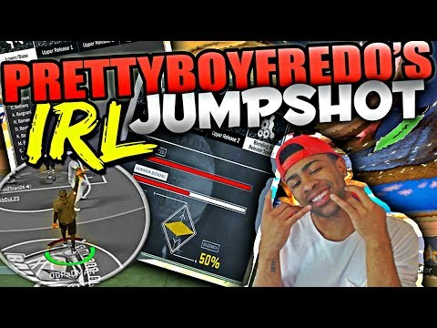 SHOOTING WITH PRETTYBOYFREDO'S REAL LIFE JUMPER IN NBA 2K17! BEST JUMPSHOT IN NBA 2K17!