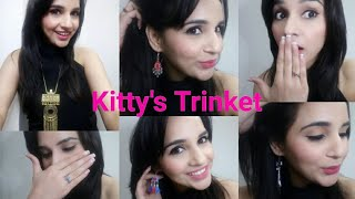 The Kitty'sTrinkets Jan 2018 | Unboxing & Try-On-Review |Jewellery Subscription @399/-