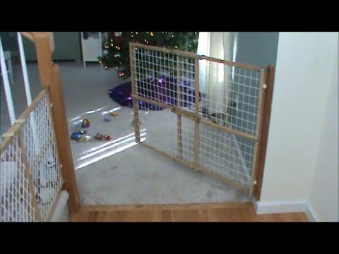 Swinging Child Fence Or Dog Gate Youtube