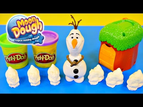 Frozen Olaf Moon Dough Bunnies Magical Molding Play Doh Disney Toys by DCTC