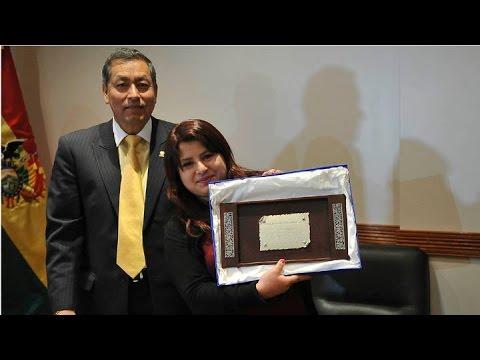 Elba Rodríguez, la ganadora de Masterchef será recibida por Evo Morales