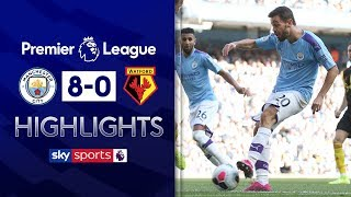 Man City hit EIGHT in rampant win | Manchester City 8-0 Watford | Premier League highlights