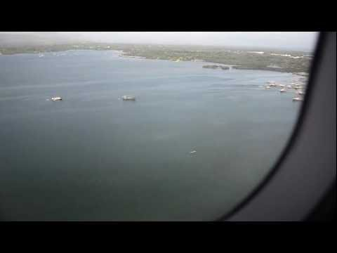 Landing at Puerto Princesa Airport, Palawan. Cebu Pacific A-320