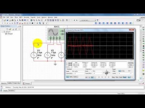 NI Multisim: Four-channel oscilloscope