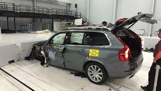 2016 Volvo XC90 Small Overlap Crash Test at IIHS