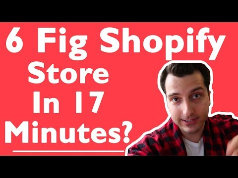 Start a 6 Figure Shopify Store in 17 Minutes (LIVE)?