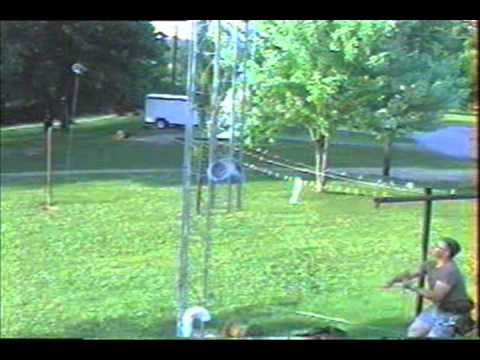 Ham Radio Tower Construction One Man Method