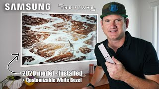04. Samsung The Frame Install w/ No-gap Wall Mount & Customizable White Bezel