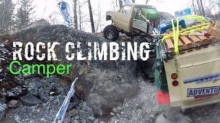 Rock Climbing with a UEV 310 Conqueror Camper!!! RC4WD | Vaterra