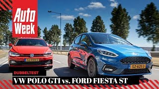 Ford Fiesta ST vs. Volkswagen Polo GTI - AutoWeek Dubbeltest - English subtitles