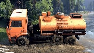 SPINTIRES 2014 - The Plains Map - Kamaz Fuel Cistern Removing the First Cloacking
