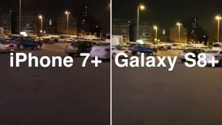 مقارنة تصوير فيديو 4k ايفون 7 بلس VS جالكسي S8