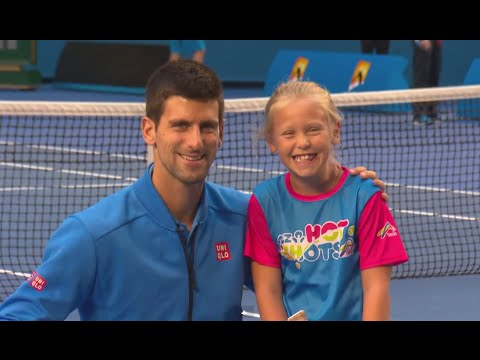 Novak Djokovic surprises ANZ Tennis Hot shot- Australian Open 2015