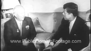 JFK meets Khrushchev in Vienna and Prime Minister MacMillan in London 1961