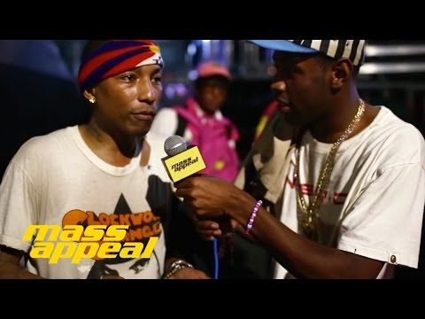 Tyler Interviews Pharrell at Camp Flog Gnaw 2014