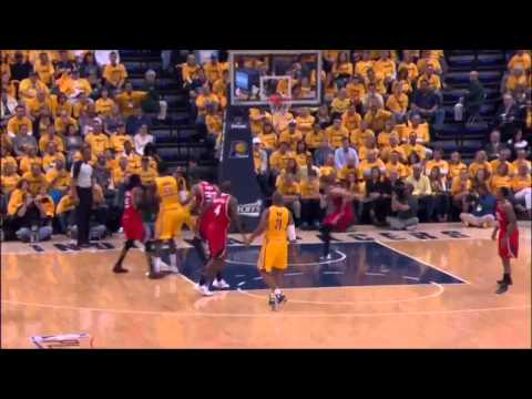 NBA, playoff 2014, Pacers vs. Hawks, Round 1, Game 7, Move 8, David West, assist