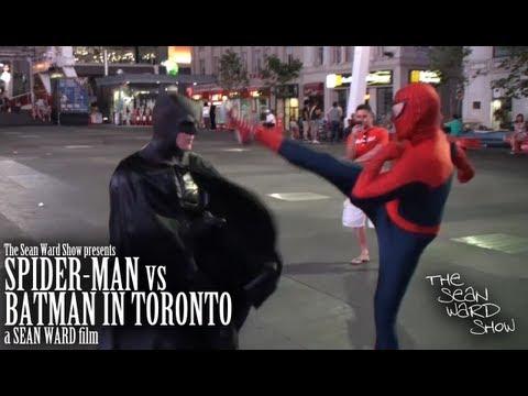 Spider-Man VS Batman in Toronto FULL VIDEO