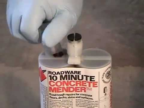 10 Minute Concrete Mender Crack Repair | How To Save Money ...
