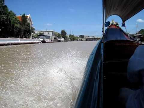 Longtail boottocht over de klongs van Bangkok
