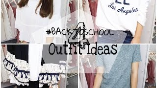 #backtoschool 4 OUTFIT IDEAS ▹ Zaramiraa ♡