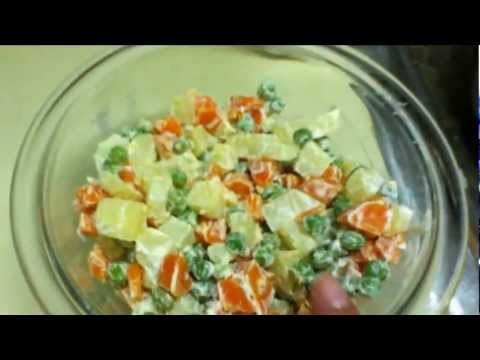 Variedad de ensaladas de verduras