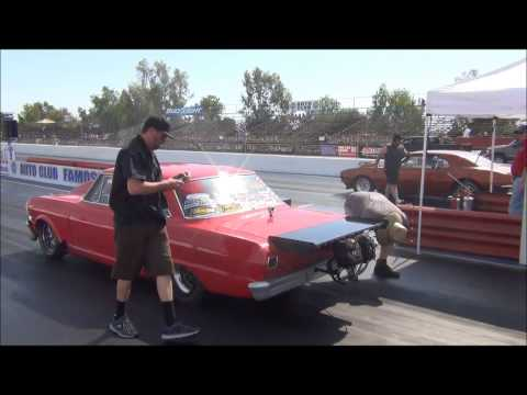 Ryan 'Toaster' Jones running 5.00 @ 150+ on 235/60/15 Mickey Thompson Drag Radials