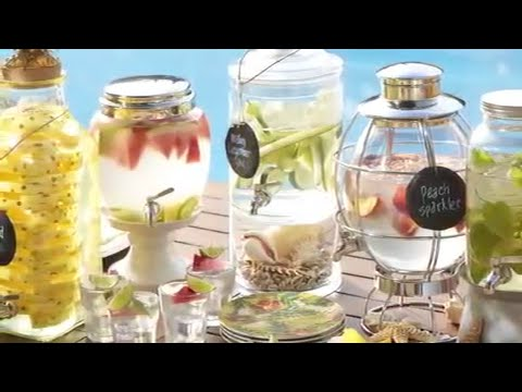 Summer Party Ideas For Creatively Filling Drink Dispensers