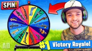WHEEL CHOOSES my GUN in Fortnite: Battle Royale! (+ GIVEAWAY)