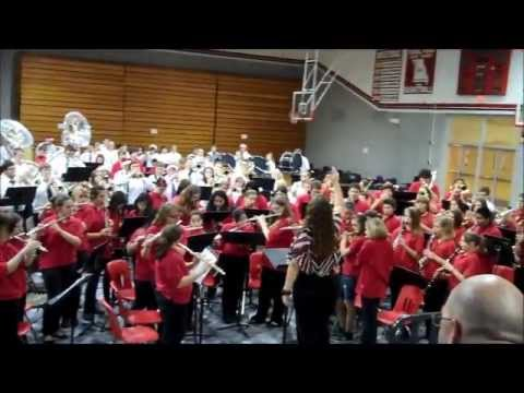 A LITTLE BIT OF THE MCDONALD COUNTY HIGH SCHOOL BAND 12/4/2012