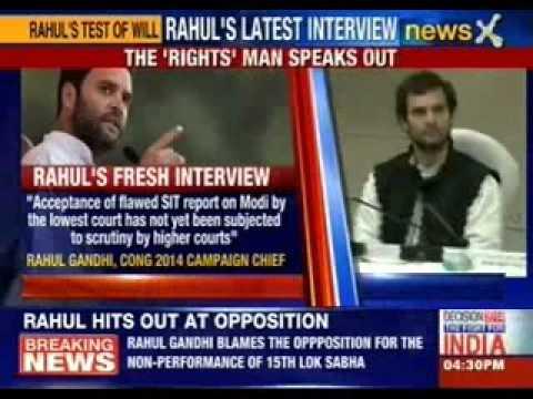 Rahul Gandhi's latest interview